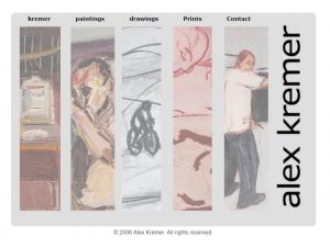 אלכס-קרמר, אתר אמן, דף הבית
